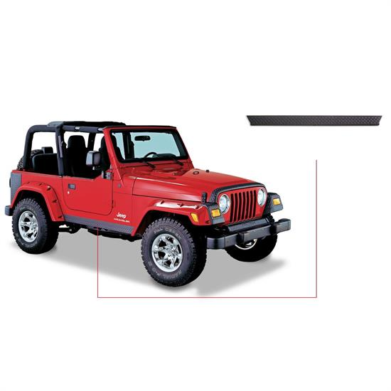 Bushwacker 14002 TrailArmor Rocker-Side Panels Only Wrangler
