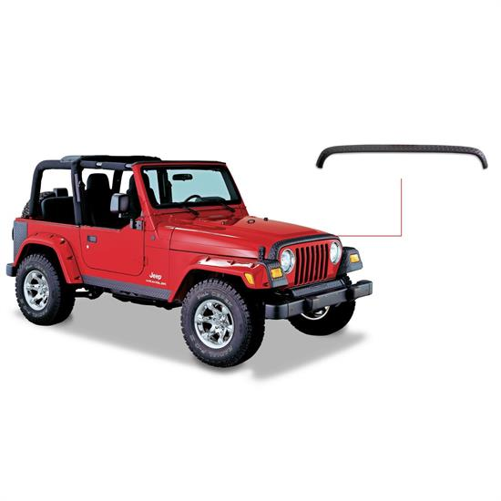 Bushwacker 14006 TrailArmor Hood Stone Guard, 1998-06 Jeep Tj