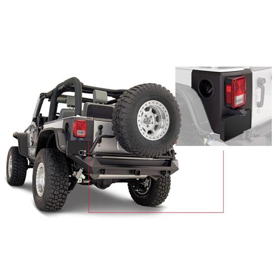 Bushwacker 14009 TrailArmor Corner Guard Rear 07-17 Jeep Wrangler