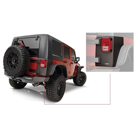 Bushwacker 14010 TrailArmor Corner Guard Rear 07-17 Jeep Wrangler