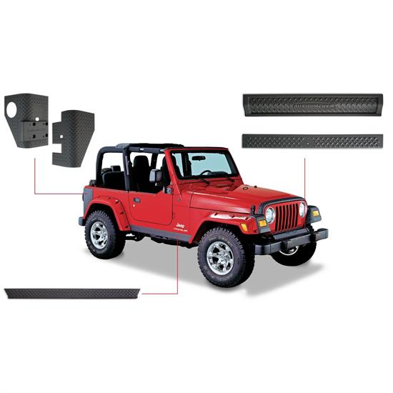 Bushwacker 14901 TrailArmor Body Panel F/R Fender Flares Wrangler