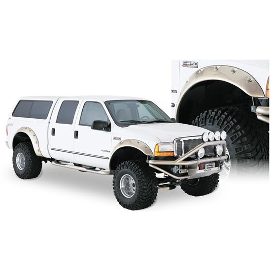 Bushwacker 20043-02 Cut-Out Fender Flares Fr w/Screw Pocket Ford
