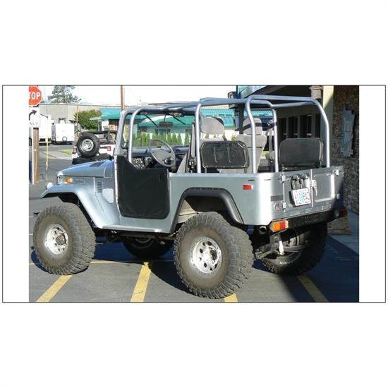 Bushwacker 30002-07 Cut-Out Fender Flares Rear Land Cruiser