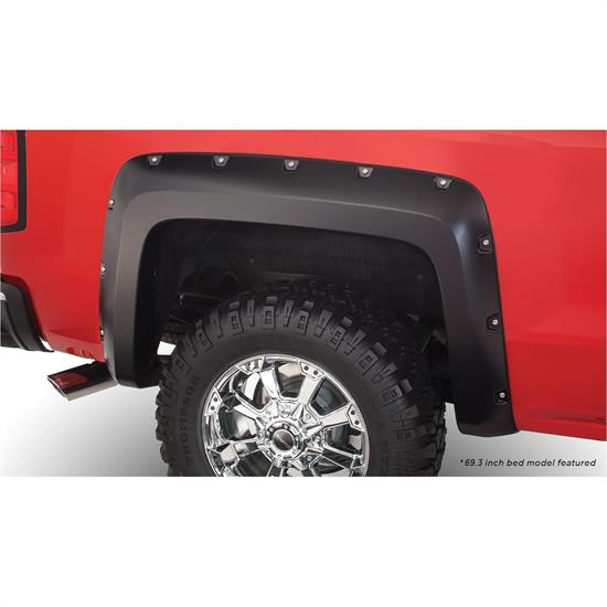 Bushwacker 40116-02 Pocket Fender Flares Rear Silverado 1500-3500
