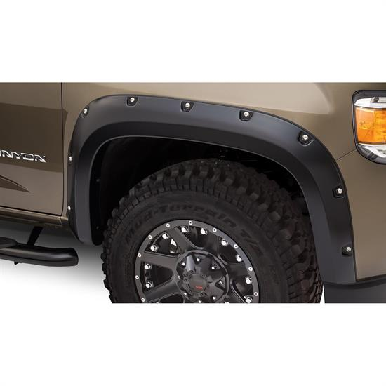 Bushwacker 40141-02 Pocket Style Fender Flares Front Pair, Canyon