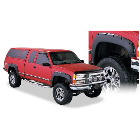 Bushwacker 40919-02 Pocket Style Fender Flares F/R 4pc, Chevy/GMC