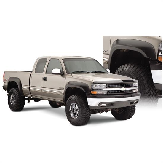 Bushwacker 40945-02 Extend-A-Fender Flares F/R Set/4, Chevy/GMC