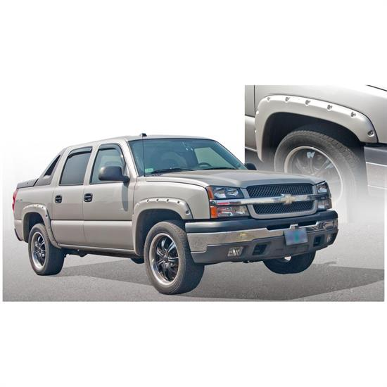 Bushwacker 40948-02 Pocket Style Fender Flares F/R 4pc, Avalanche