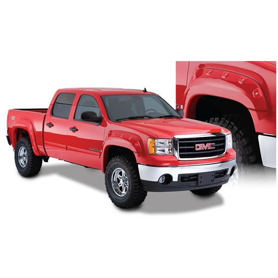 Bushwacker 40951-02 Cut-Out Fender Flares F/R 07-13 Sierra 1500