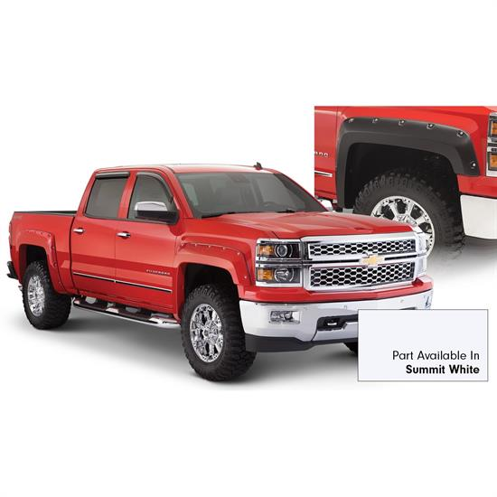 Bushwacker 40957-14 Pocket Painted Fender Flares Front Rear Chevy