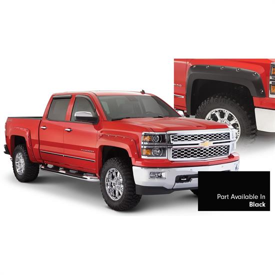 Bushwacker 40957-34 Pocket Painted Fender Flares Front Rear Chevy