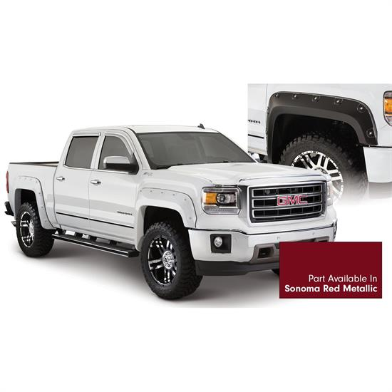 Bushwacker 40958-74 Boss Pocket Painted Fender Flares Sierra 1500
