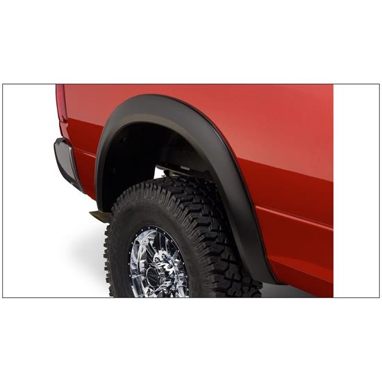 Bushwacker 50036-02 Extend-A-Fender Flares Rear Pair, Dodge Ram