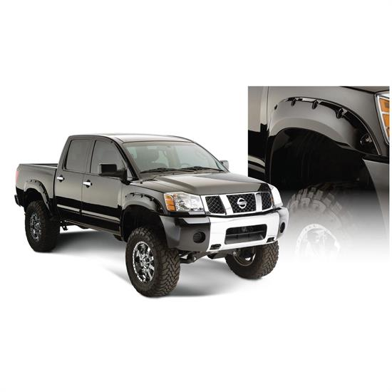 Bushwacker 70014-02 Pocket Style Fender Flares Rear 04-15 Titan