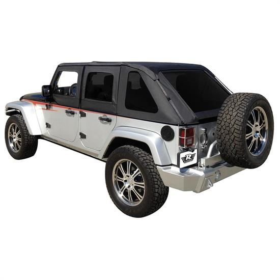 Rampage 109835 Frameless Soft Top Sailcloth, Tinted Wrangler