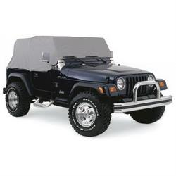 Rampage 1159 Cab Cover Water Resistant Gray, 1976-86 Jeep Cj7