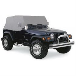 Rampage 1160 Cab Cover Water Resistant Gray, 87-91 Jeep Wrangler