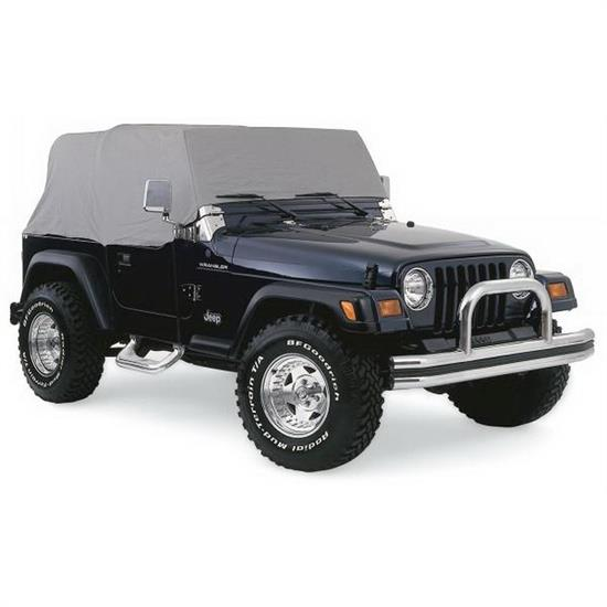 Rampage 1261 Cab Cover 4 Layer Gray, 1976-06 Jeep Wrangler