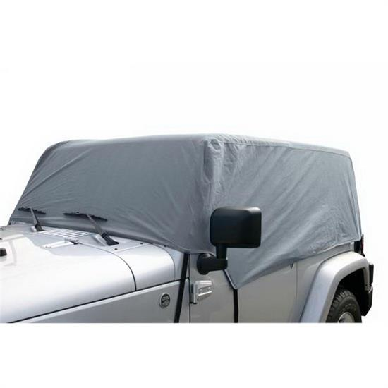 Rampage 1263 Cab Cover 4 Layer Gray, 2007-17 Jeep Wrangler