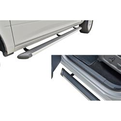 Rampage 23080 Patriot Running Boards Anodized Silver 80 in Pair