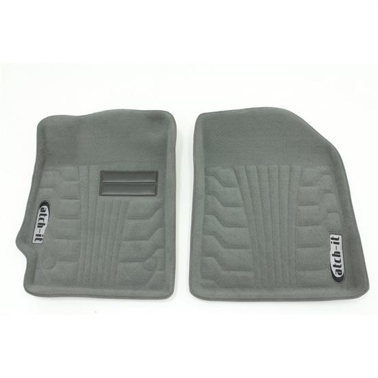 Rampage 4930620 Catch-It Carpet Grey Front, 2007-17 Jeep Wrangler