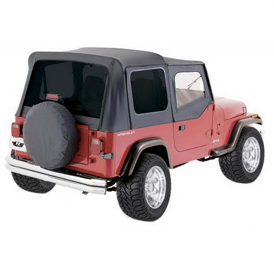 Rampage 68115 Complete Soft Top Soft Upper Doors, Jeep Wrangler