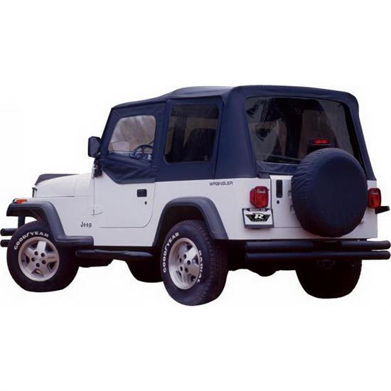Rampage 68215 Complete Soft Top Upper Doors CJ5/CJ7/Wrangler