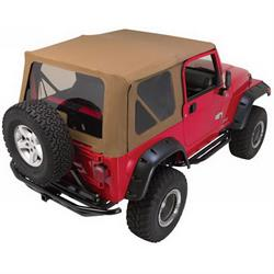 Rampage 68717 Complete Soft Top Kit For Steel Doors Tj/Wrangler