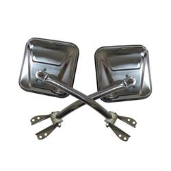Rampage 7417 Side Mirror Kit Stainless Pair, CJ5/CJ7