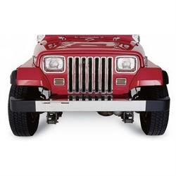 Rampage 7509 Grille Inserts Chrome, 1987-95 Jeep Wrangler