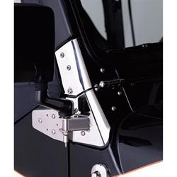 Rampage 7603 Windshield Hinge Black Pair, CJ5/CJ7/Wrangler