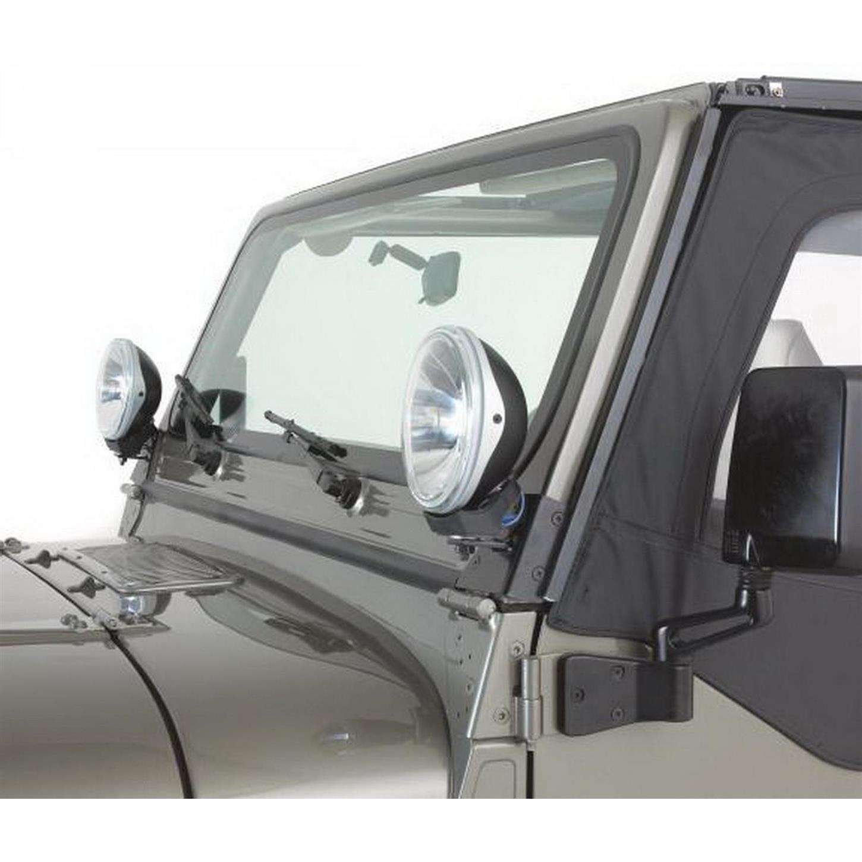 Rampage 7608 Windshield Hinge Light Bracket Pair Tj Wrangler Jeep Lights Wiring
