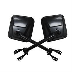 Rampage 7617 Side Mirror Kit Black Pair, CJ5/CJ7