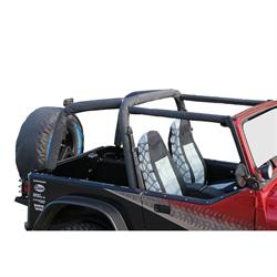 Rampage 768915 Roll Bar Pad/Cover Kit Denim Full Kit Wrangler
