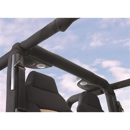 Rampage 771035 Roll Bar Padding Kit Full Kit Black, Tj/Wrangler