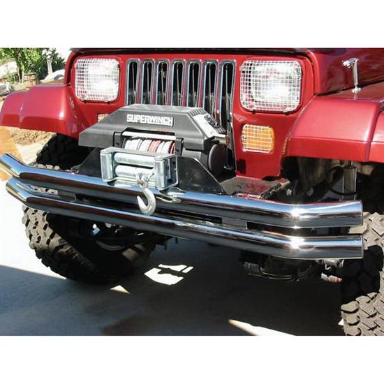 Rampage 8449 Double Tube Bumper-Front Or Rear w/o Hoop Jeep