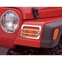 Rampage 84665 Euro Head Light Guard 2 Piece Set Tj/Wrangler