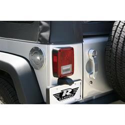Rampage 85001 Billet Fuel Door Cover Polished Locking Wrangler