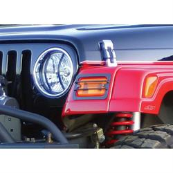 Rampage 85660 Euro Head Light Guard Kit 6 Piece Set Wrangler