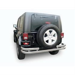 Rampage 86448 Rear Double Tube Bumper 07-17 Wrangler