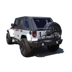 Rampage 86606 Rear Recovery Bumper Swing Away Tire Mount Wrangler