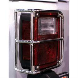 Rampage 88460 Tail Light Guards Stainless Pair, Wrangler