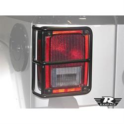 Rampage 88660 Tail Light Guards Black Pair, Wrangler