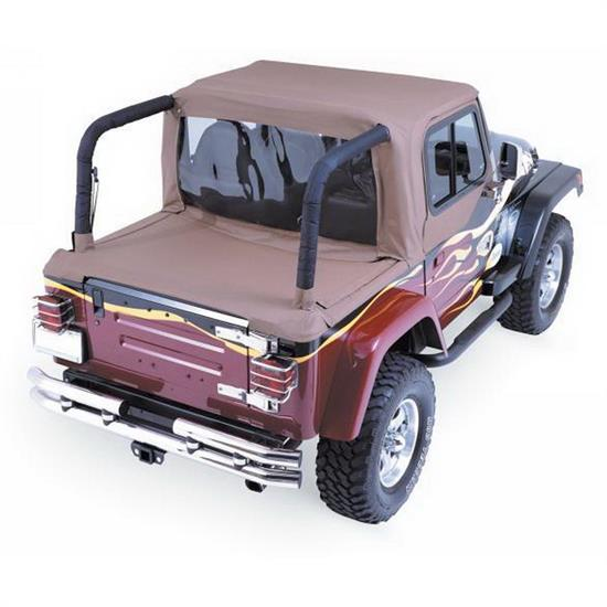 Rampage 993017 Soft Cab Top-Soft Top w/ Tonneau Cover Wrangler