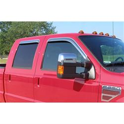 Stampede 6123-8 Tape-Onz Sidewind Deflector 4 pc. Chrome, Ford