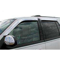 Stampede 6140-8 Tape-Onz Sidewind Deflector. Chrome, Ford/Lincoln
