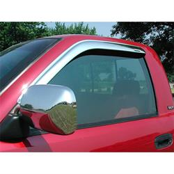 Stampede 6201-8 Tape-Onz Sidewind Deflector. Chrome Front, Dodge