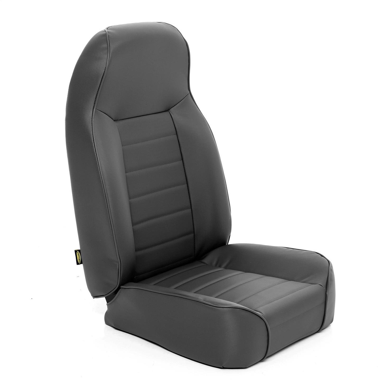 Smittybilt 45015 Factory Style Replacement Seat Black Denim for Wrangler
