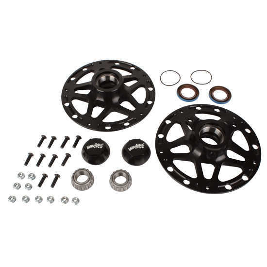 Winters Performance 3980B Black Aluminum D-Mount Front Hubs