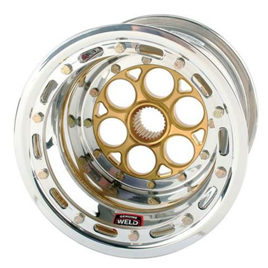Weld Magnum 27 Spline 10 x 8 In Wheel - Beadlock and Cover, 3In Offset